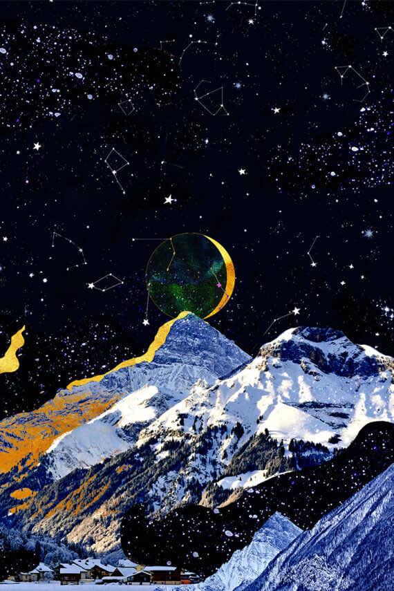 Grafika Księżyc Maroko - Atlas 2