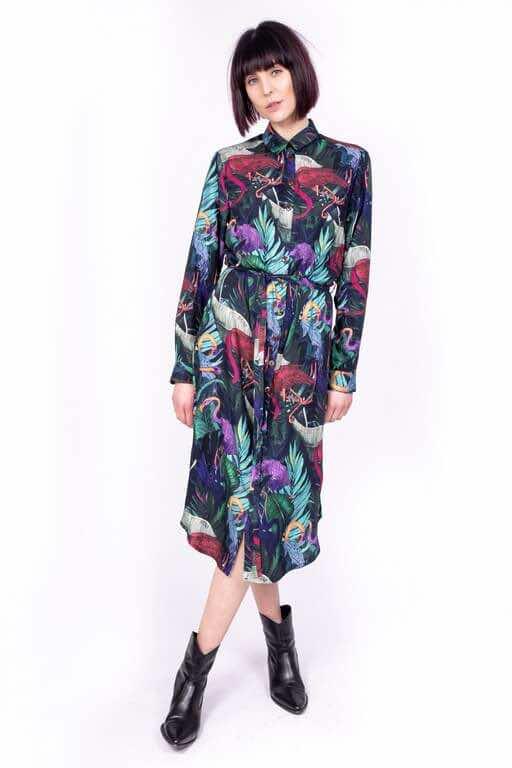 Sukienka koszulowa FLAMINGI