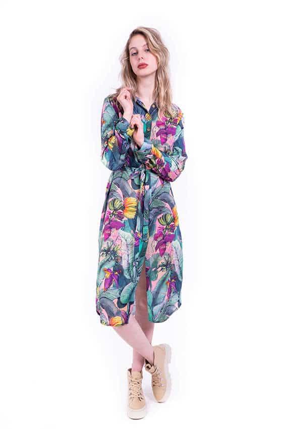 Sukienka koszulowa BANANY