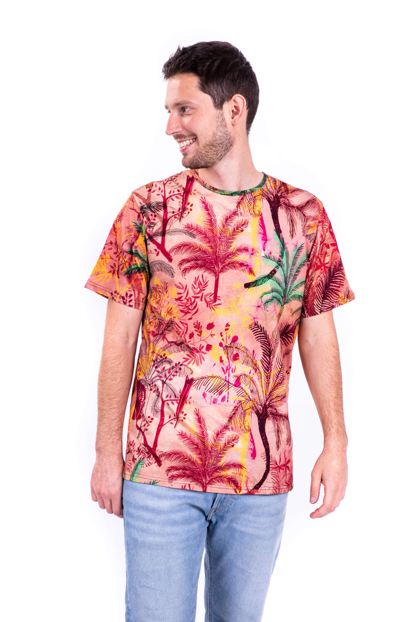 t-shirt męski palmy