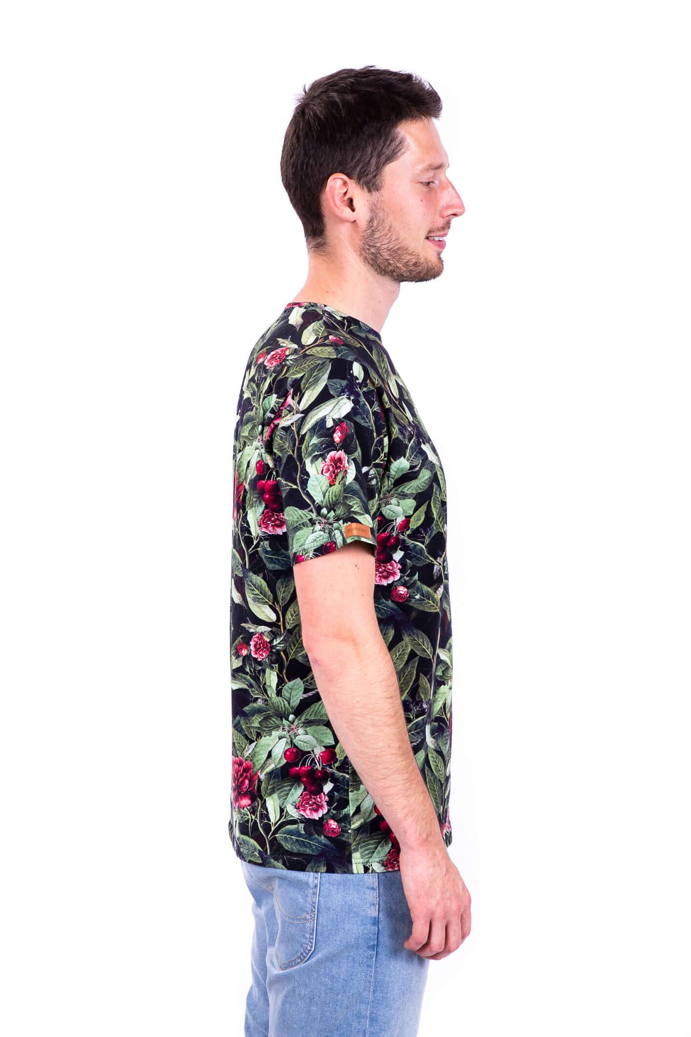 t-shirt męski wiśnie