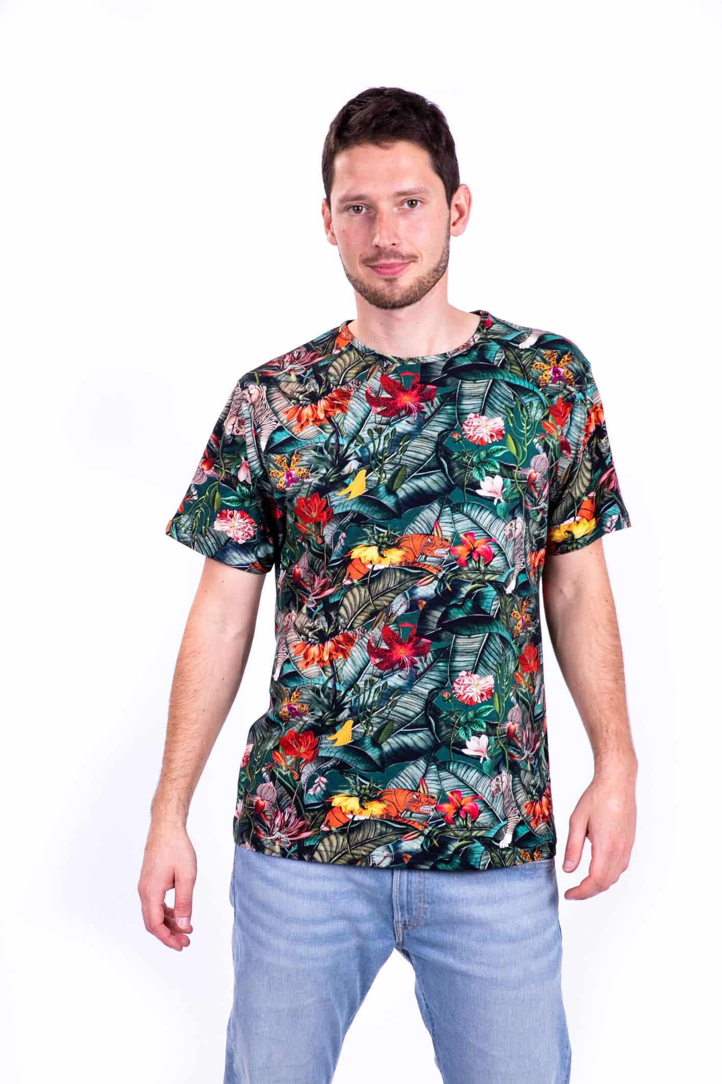 t-shirt męski wyspa