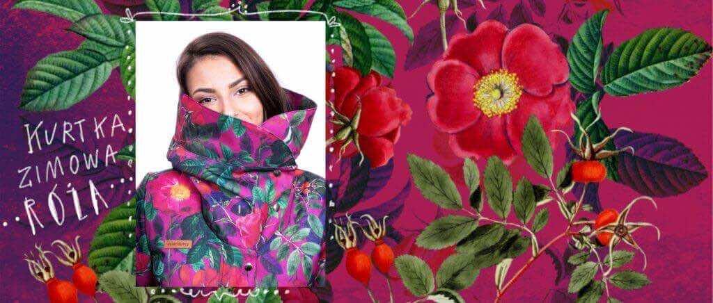 kurtka zimowa róża