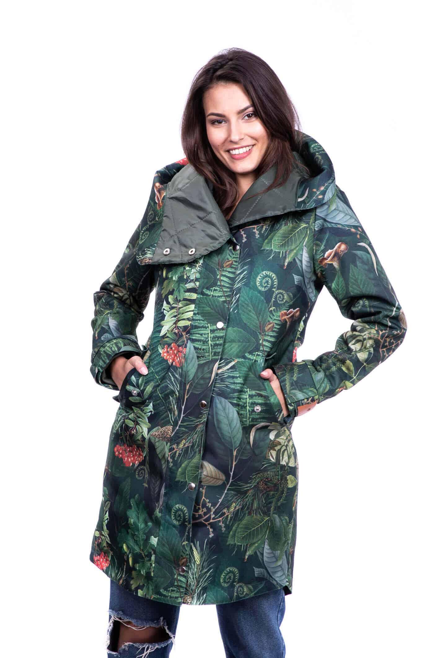 kurtka zimowa damska las