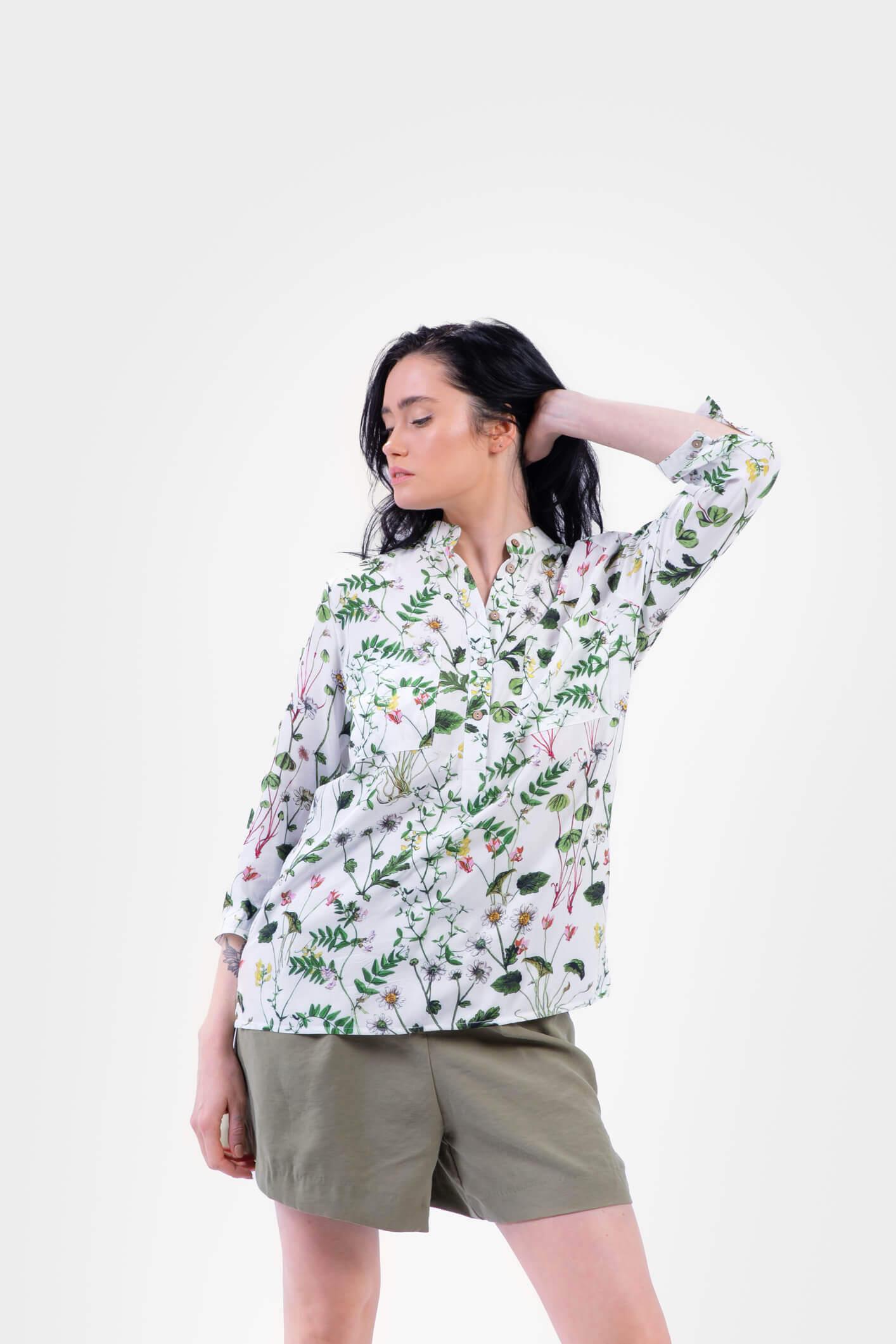 koszula ze stójką zielnik