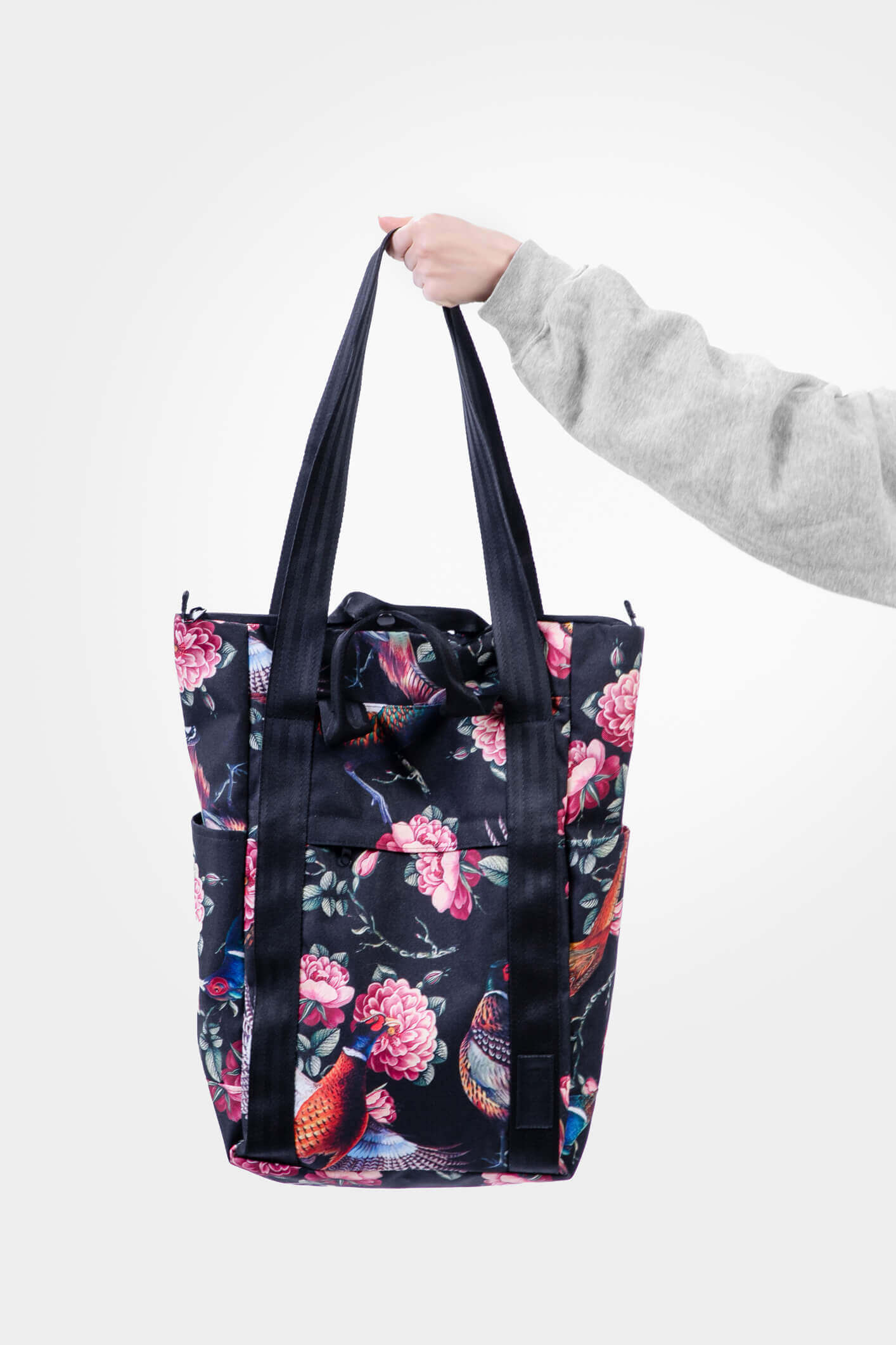 torbo-plecak czarne bażanty