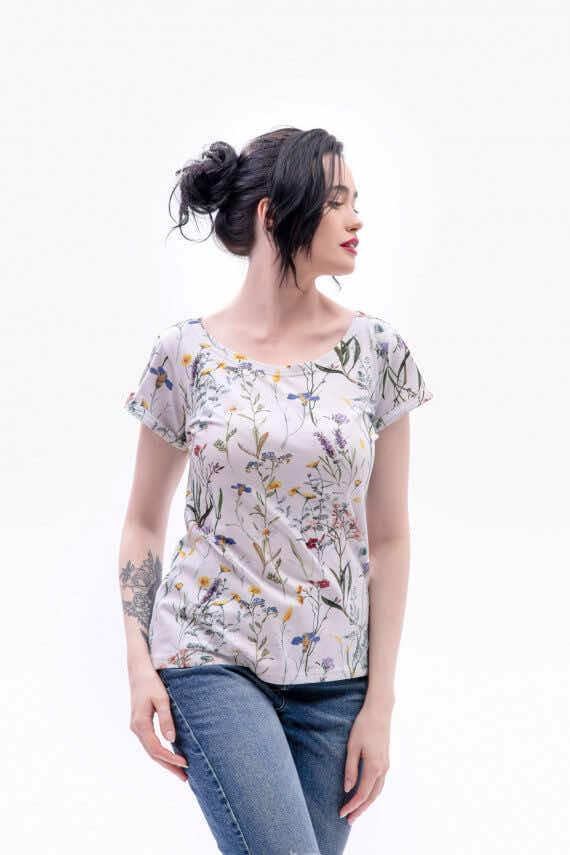 koszulka z krótkim rękawem łąka wiosna dziendobrysklep.com