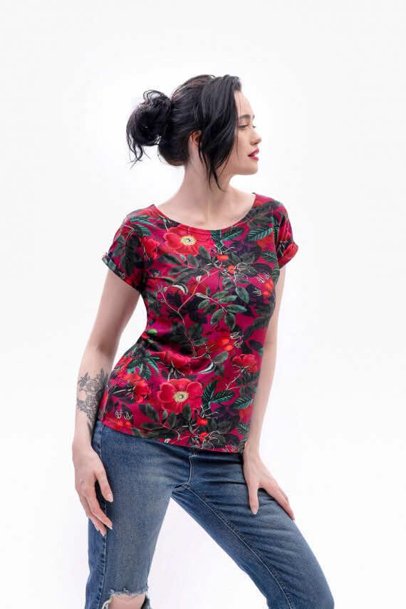 koszulka z krótkim rękawem Róża wiosna dziendobrysklep.com