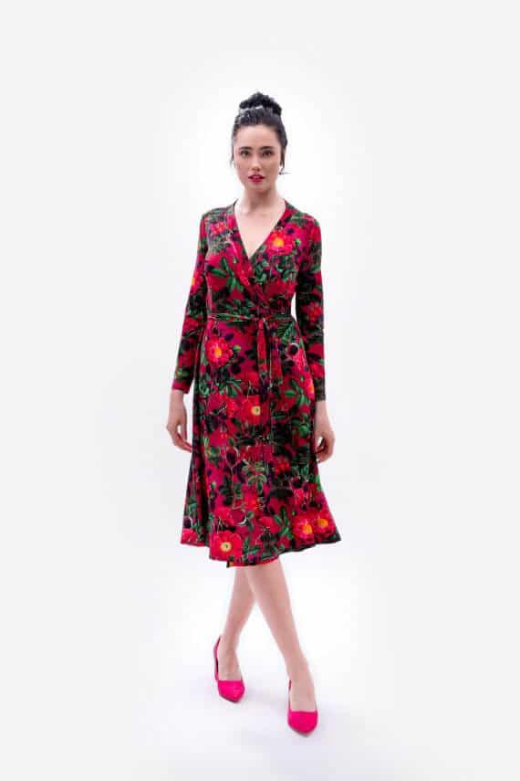 dziendobrysklep.com wiosna sukienka wiązana róża