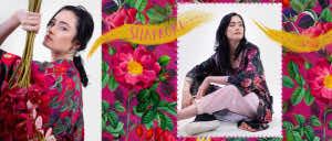 szlafrok damski roze piwonie dziendobrysklep.com