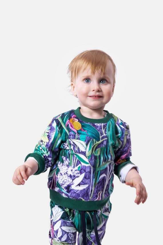 dziendobrysklep.com lato dzieci bluza spodnie lila