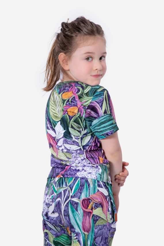 dziendobrysklep.com lato dzieci koszulka spodnie lila