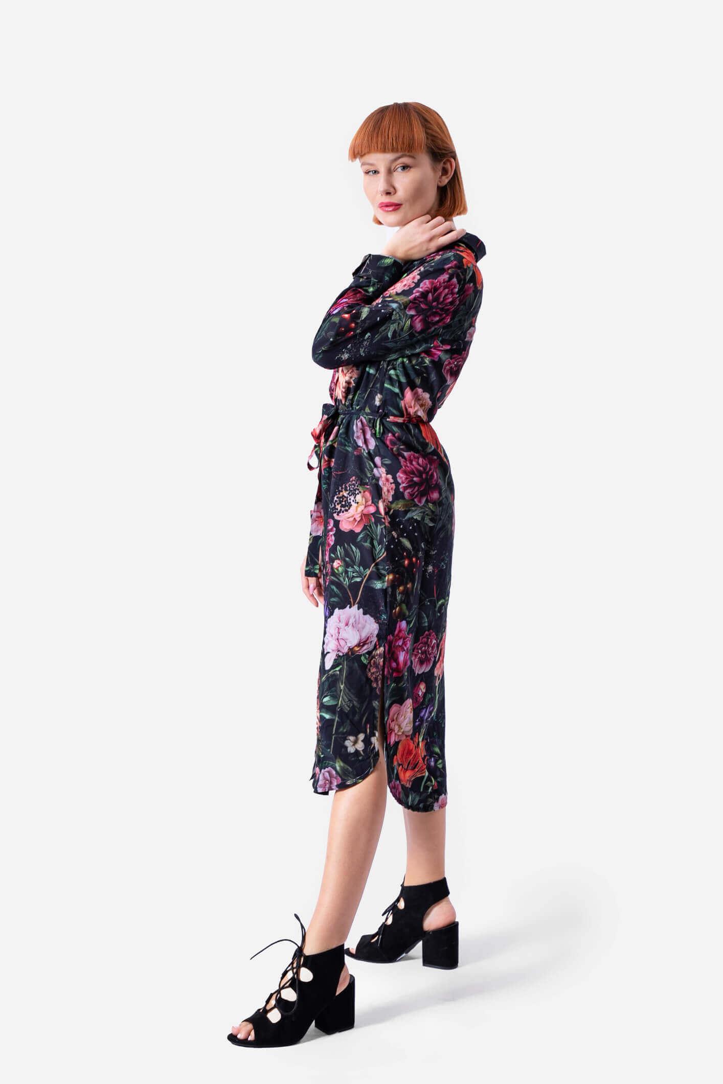 dziendobrysklep.com sukienka koszulowa piwonie kolor