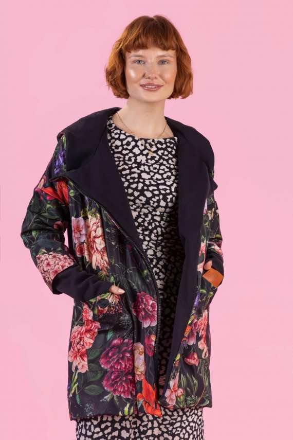 dziendobrysklep.com kurtka oversize piwonie kolor